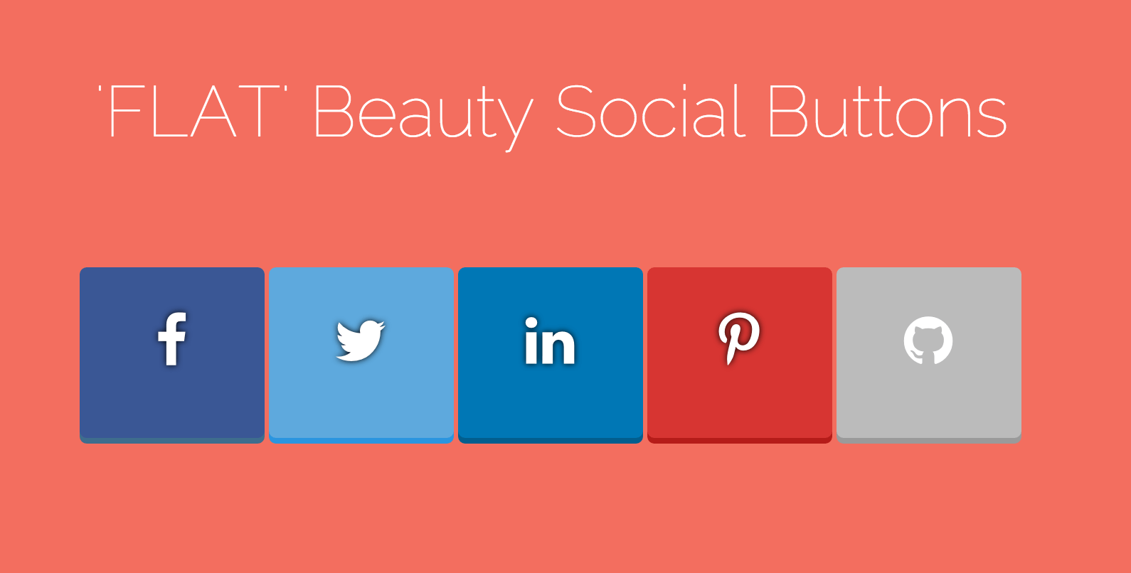 FLAT Beauty Social Button with css3 transition
