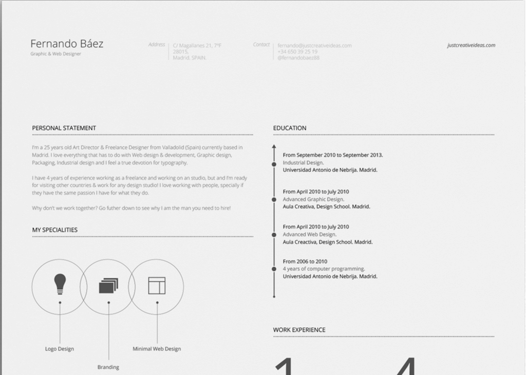 free resume template by fernando bezfree resume template by fernando bez - Resume Templates For Graphic Designers