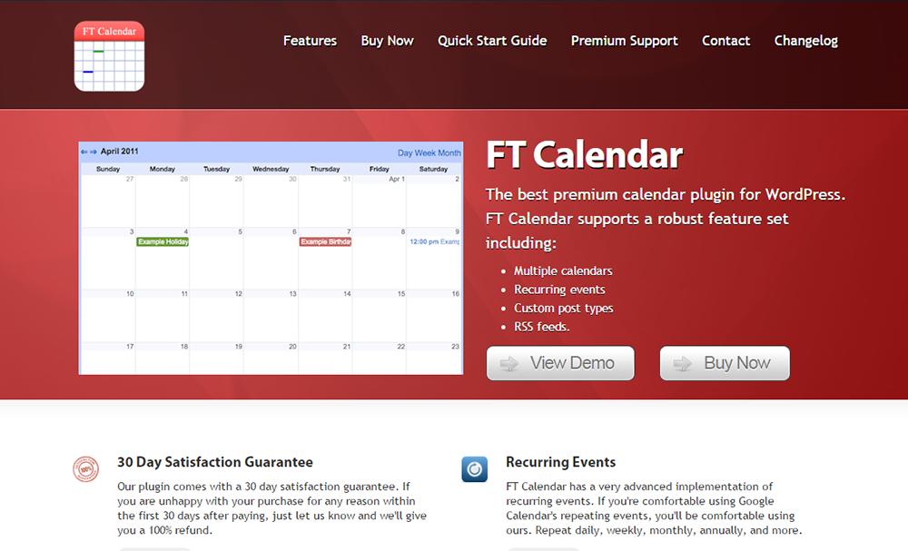 FT Calendar
