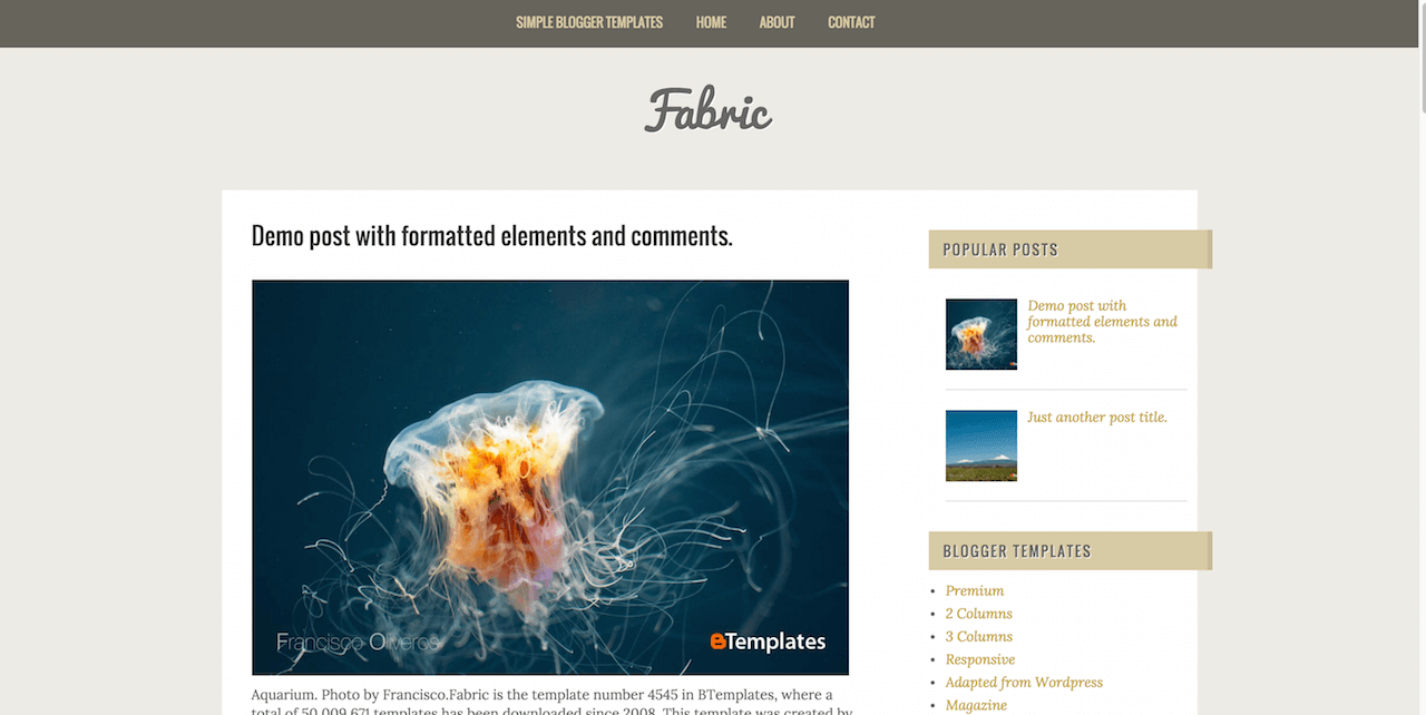 Fabric Blogger template BTemplates