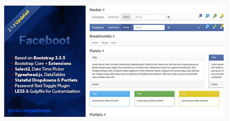 Faceboot - Clean & Edible Bootstrap Skin