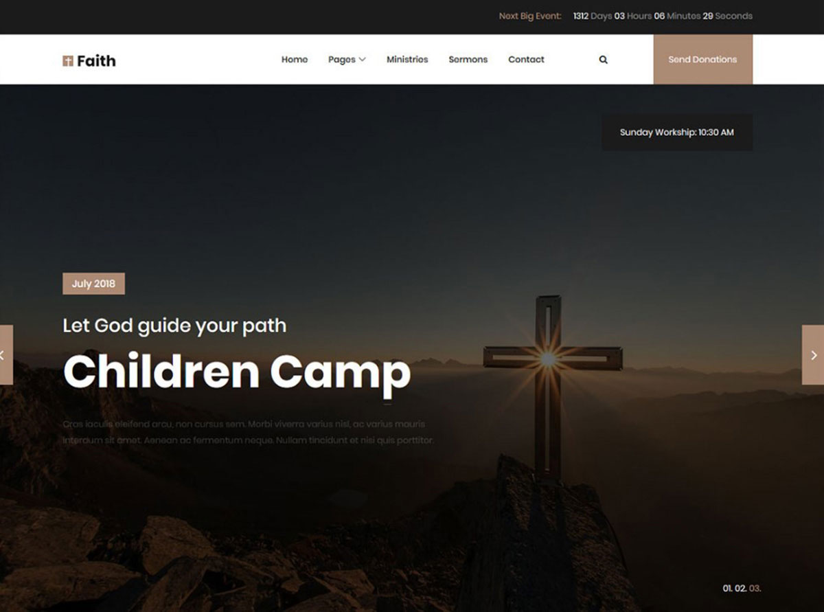 Faith Website Template free ngo website templates image