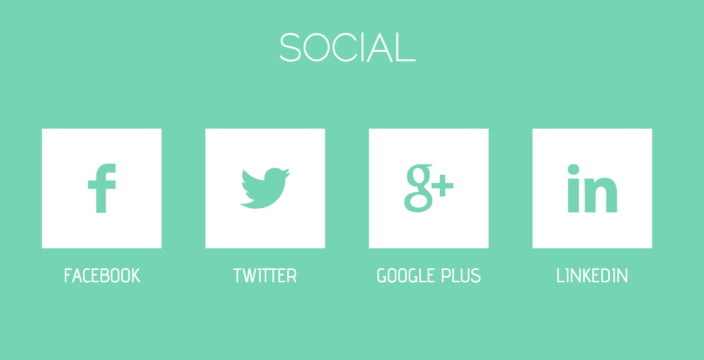 Fancy Flat Social Button Animation