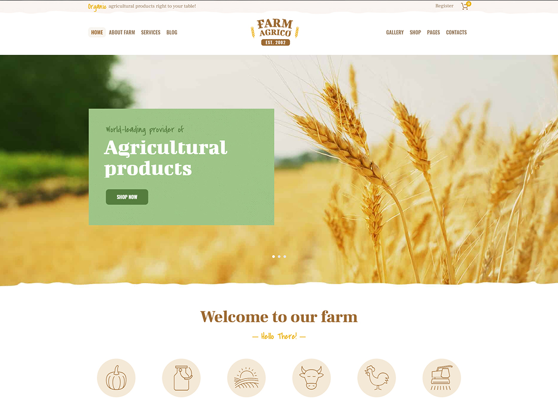 Farm Agrico - Agricultural Business WordPress Theme