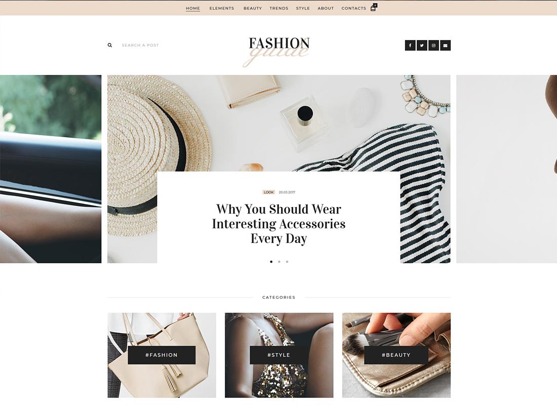 Fashion Guide - Online Magazine & Lifestyle Blog WordPress Theme