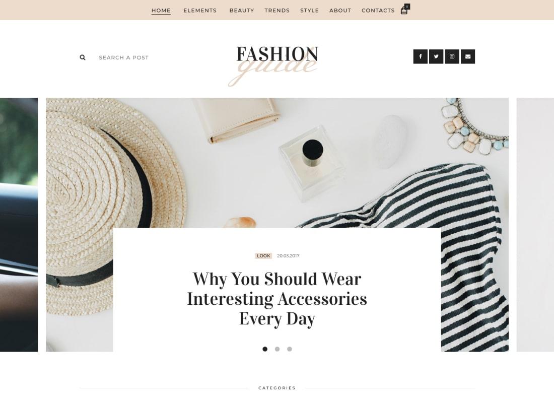 Fashion Guide | Online Magazine & Lifestyle Blog WordPress Theme