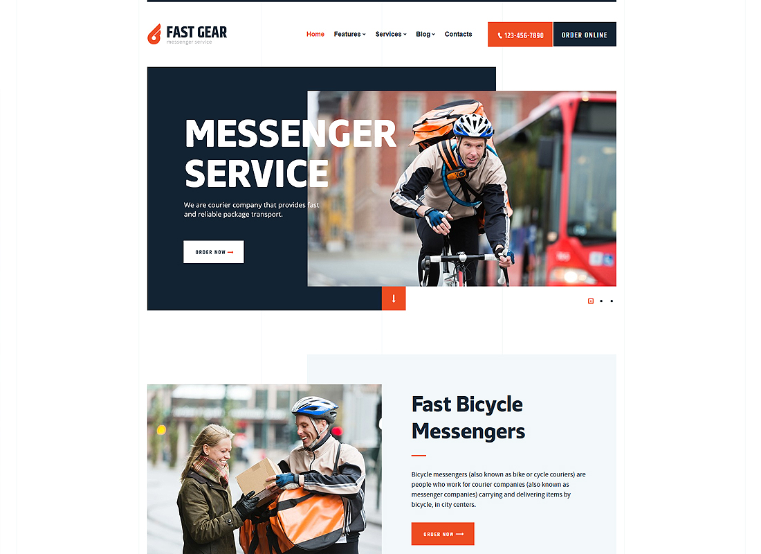 Fast Gear - Courier and Delivery Services WordPress Theme