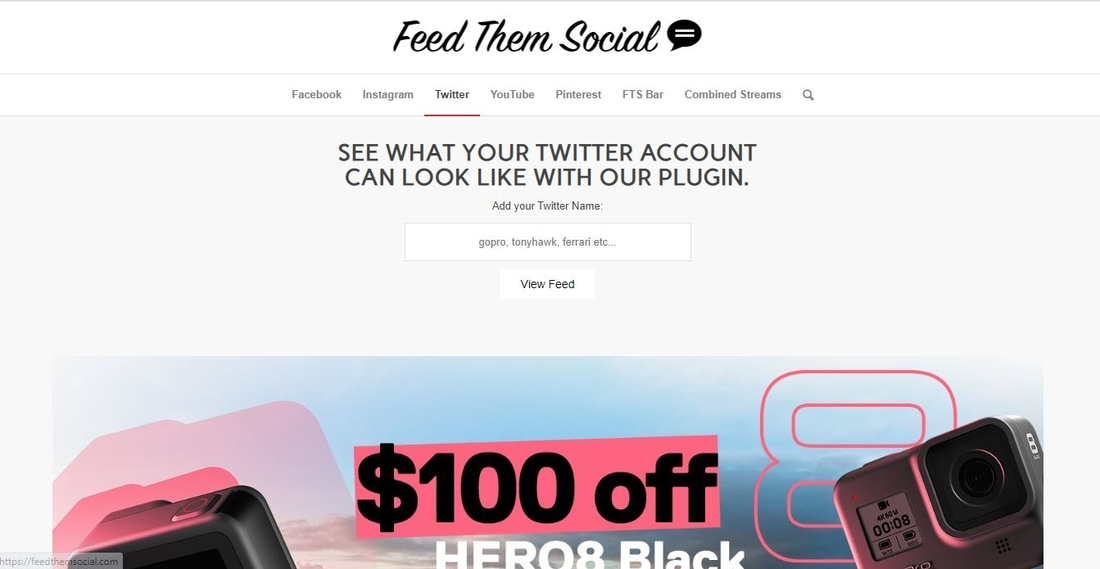 Feed Them Social demo page