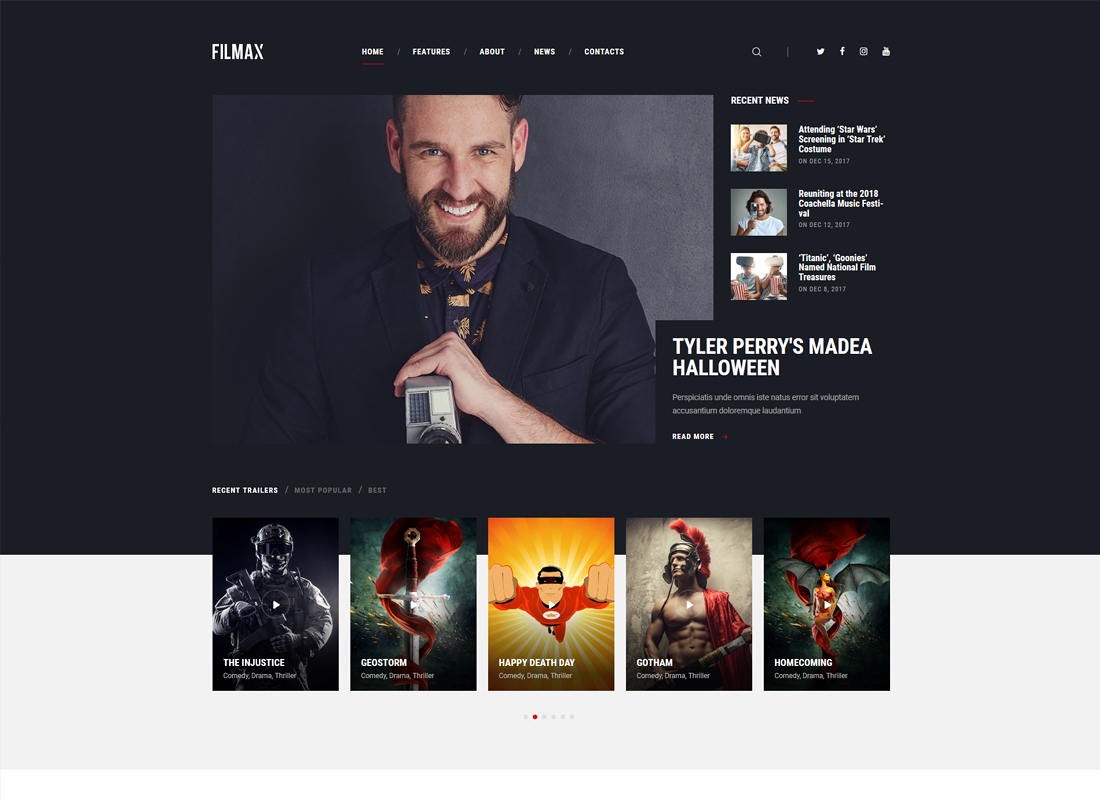 Filmax   Movie Magazine WordPress Theme