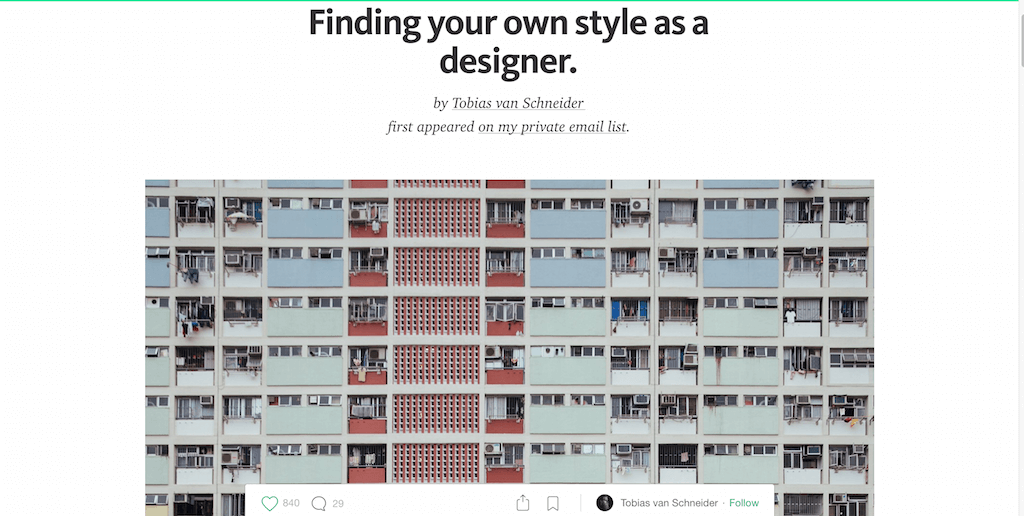 Finding your own style as a designer