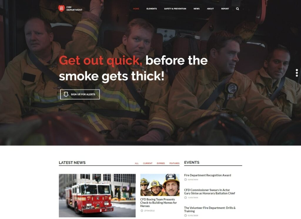 Fire Department | FD Station and Security WordPress Theme