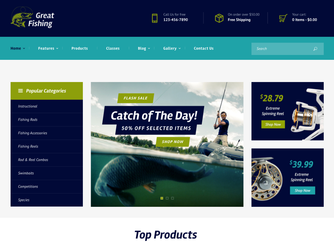Great Fishing | Fishing and Hunting WordPress Theme