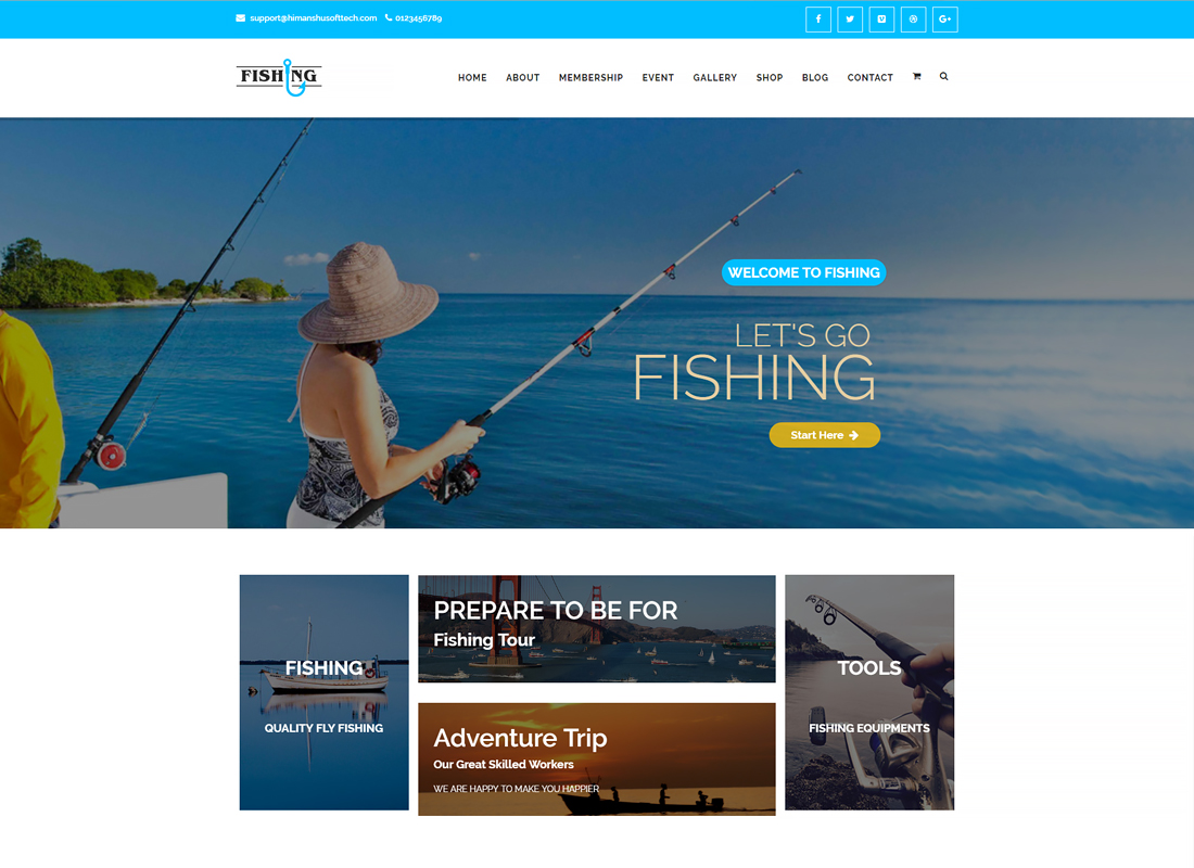 Fishing Yacht Water Sports | Fishing Club WordPress Theme