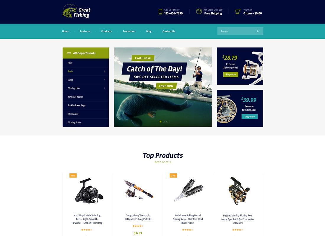 Great Fishing | Fishing and Hunting WordPress Theme