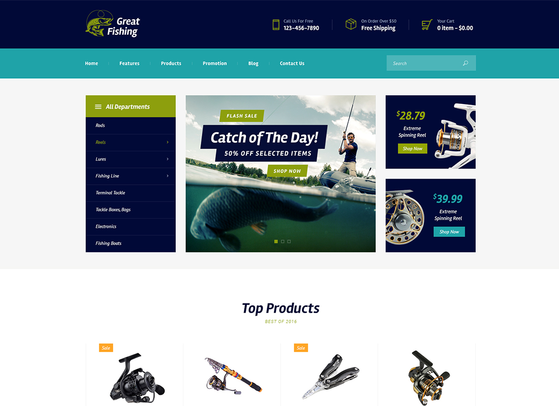 Fishing and Hunting - WordPress Theme