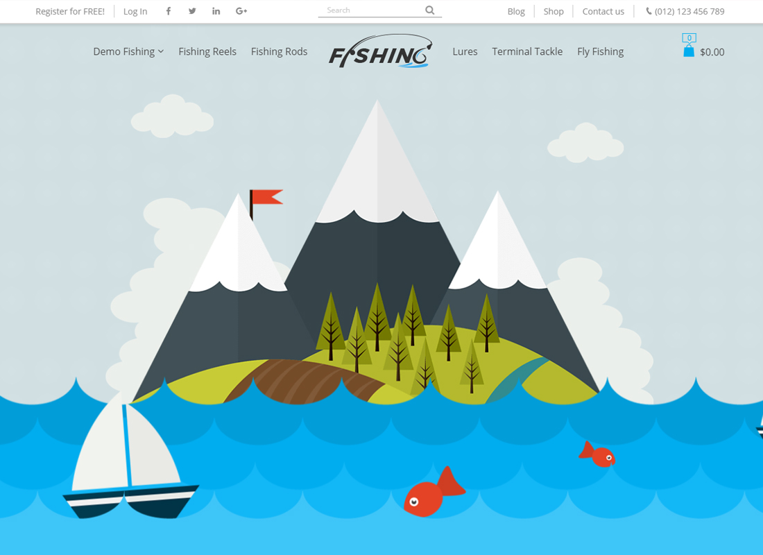Fishing - WordPress Theme For Fishing Store