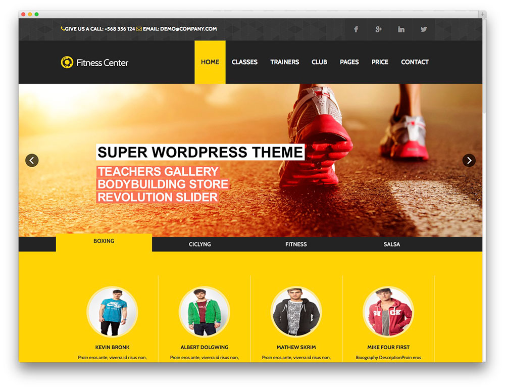 Fitness eCommerce premium theme