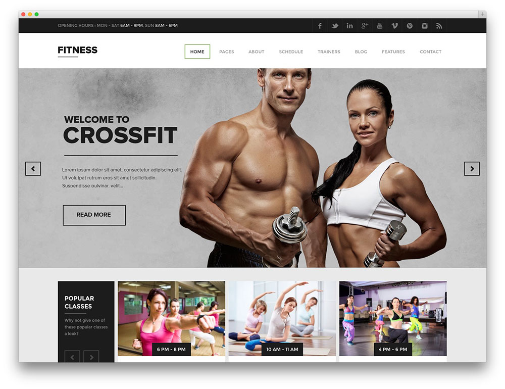 Fitness - premium WP Gym theme