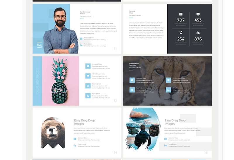 five-keynote-presentation-template