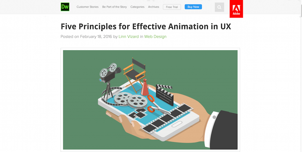 Five Principles for Effective Animation in UX