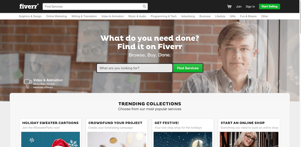 Fiverr The marketplace for creative professional services