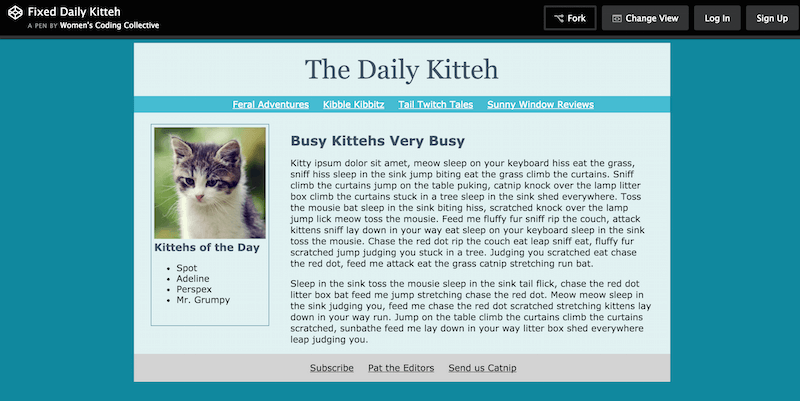 Fixed Daily Kitteh