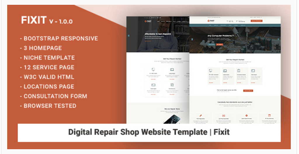 Latest 30 free responsive html5 templates for small businesses 2017 technology business are sprouting up all over the place in niches like computer repairs data recovery specific laptop repairs smartphone repairs friedricerecipe Images