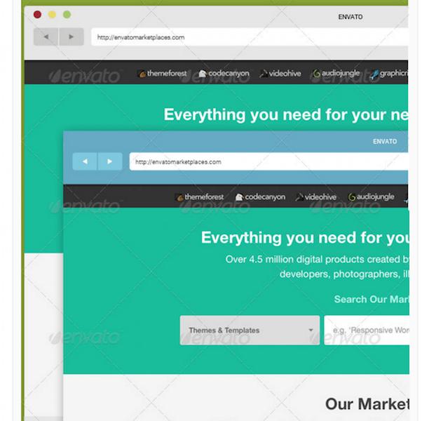 Flat Browser Display