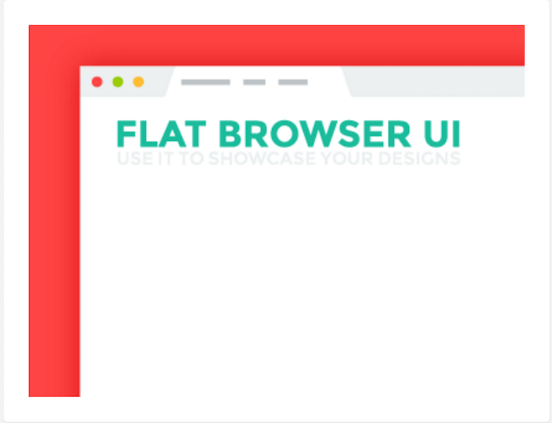 Flat Browser UI - Freebie