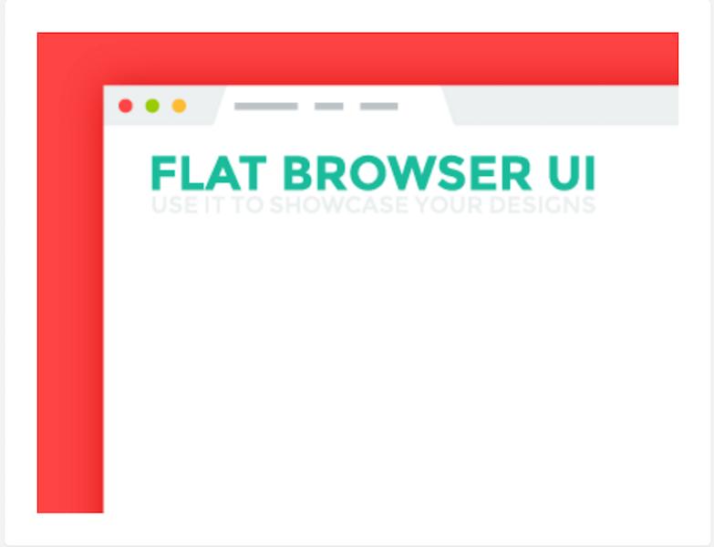 Flat Browser UI - Freebie