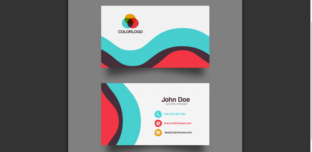 Top 18 free business card psd mockup templates in 2018 colorlib flat business card template accmission Images