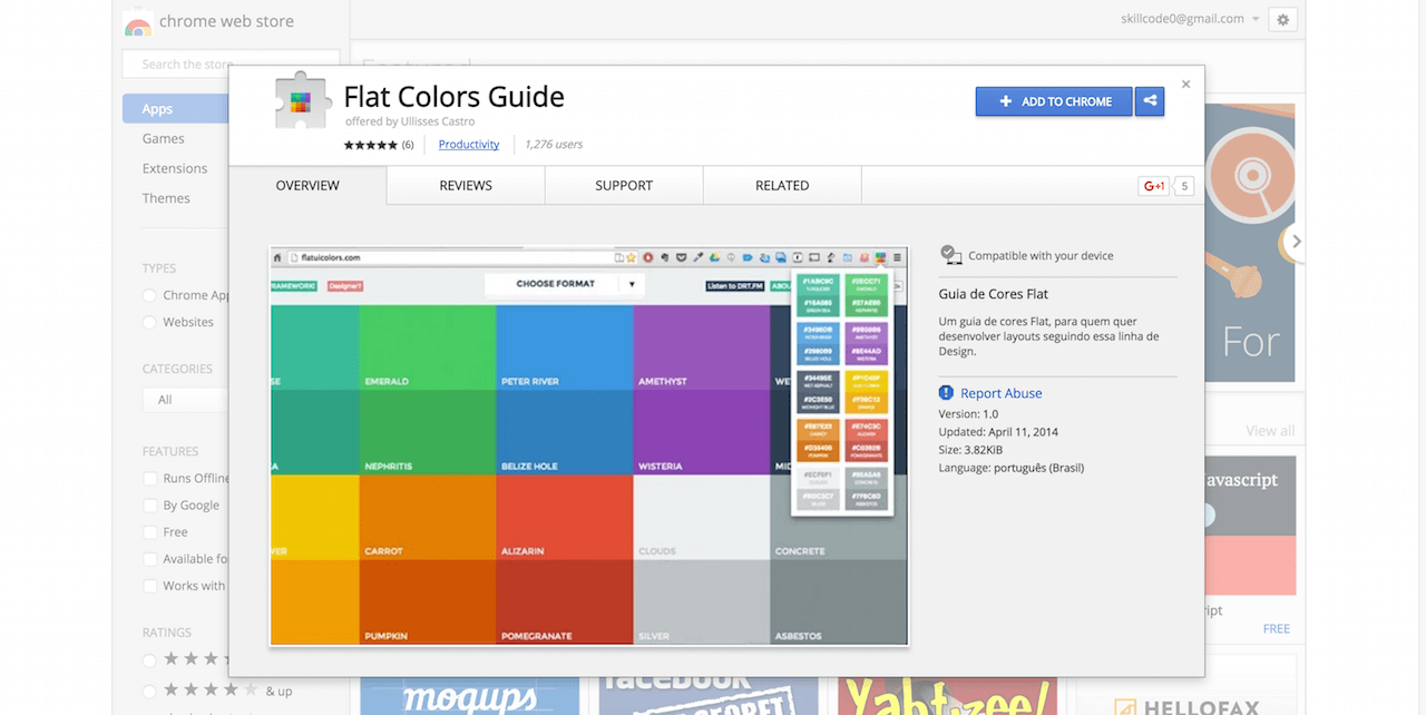 Flat Colors Guide Chrome Web Store
