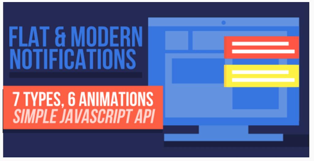 Flat Modern Notifications JavaScript CodeCanyon