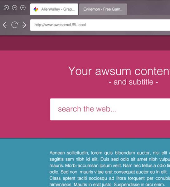 Flat Transparent Browser