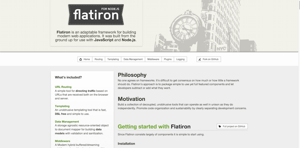 Flatiron A framework for Node.js