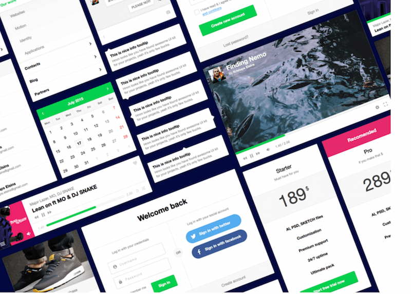 Flexible UI Kit Sketch