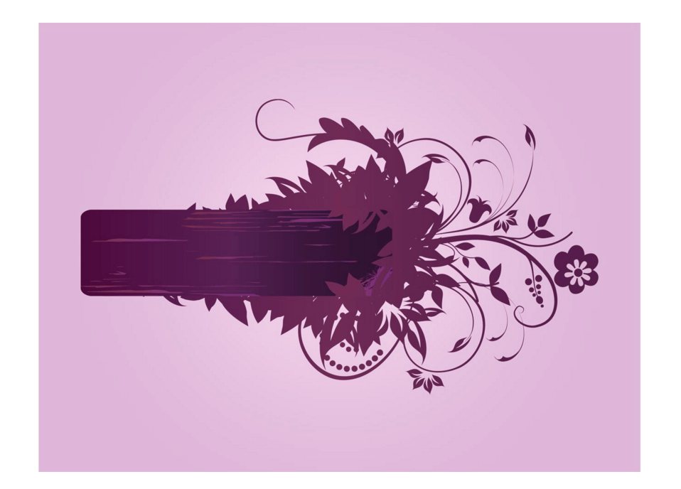 Flower Themed Vector Banner