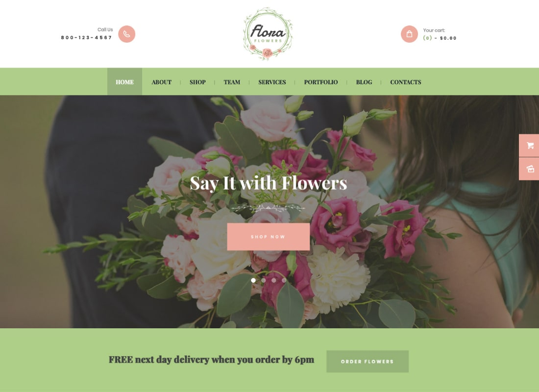 Flora Flowers | Flowers Boutique and Florist WordPress Theme