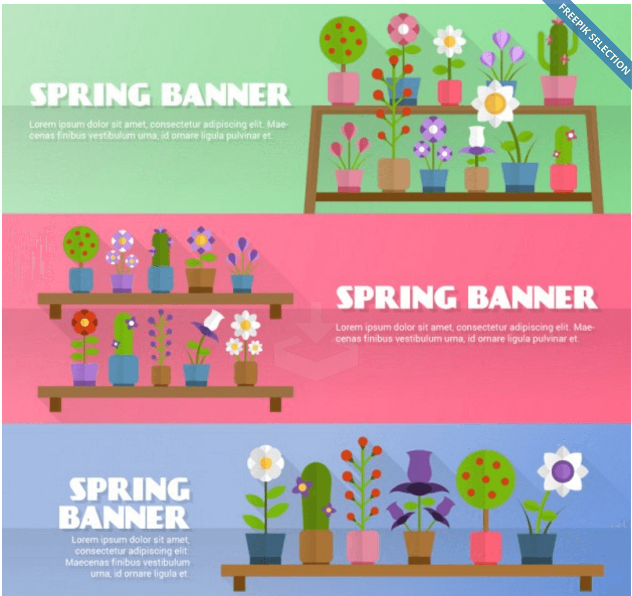 Flowery Spring Banners
