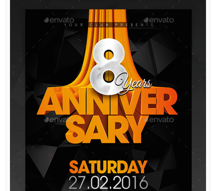Flyer for Anniversaries