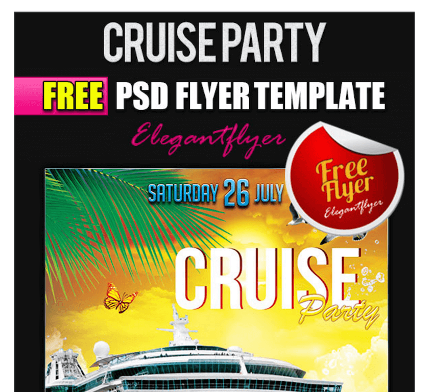 Flyer for Cruise Party
