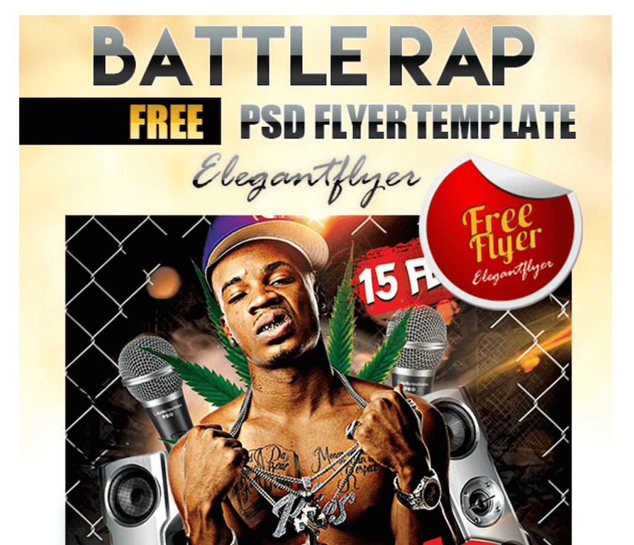 Flyer for Rap Battles