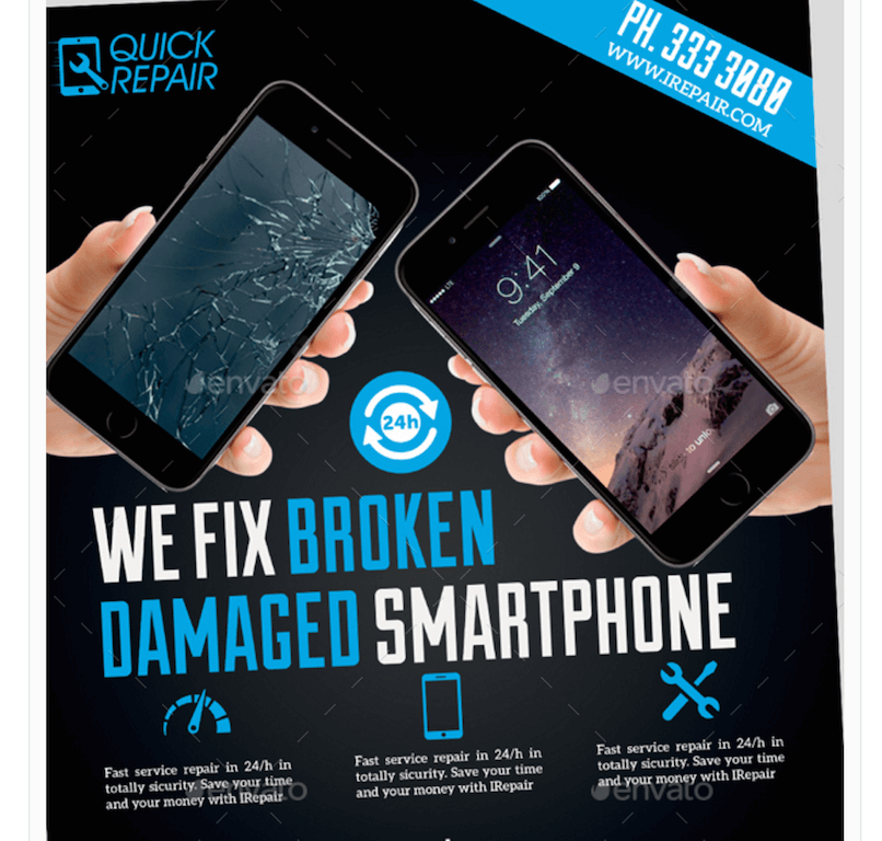 Flyer for Smartphone Repairs