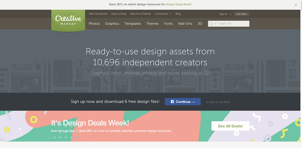 Fonts Graphics Themes and More Creative Market