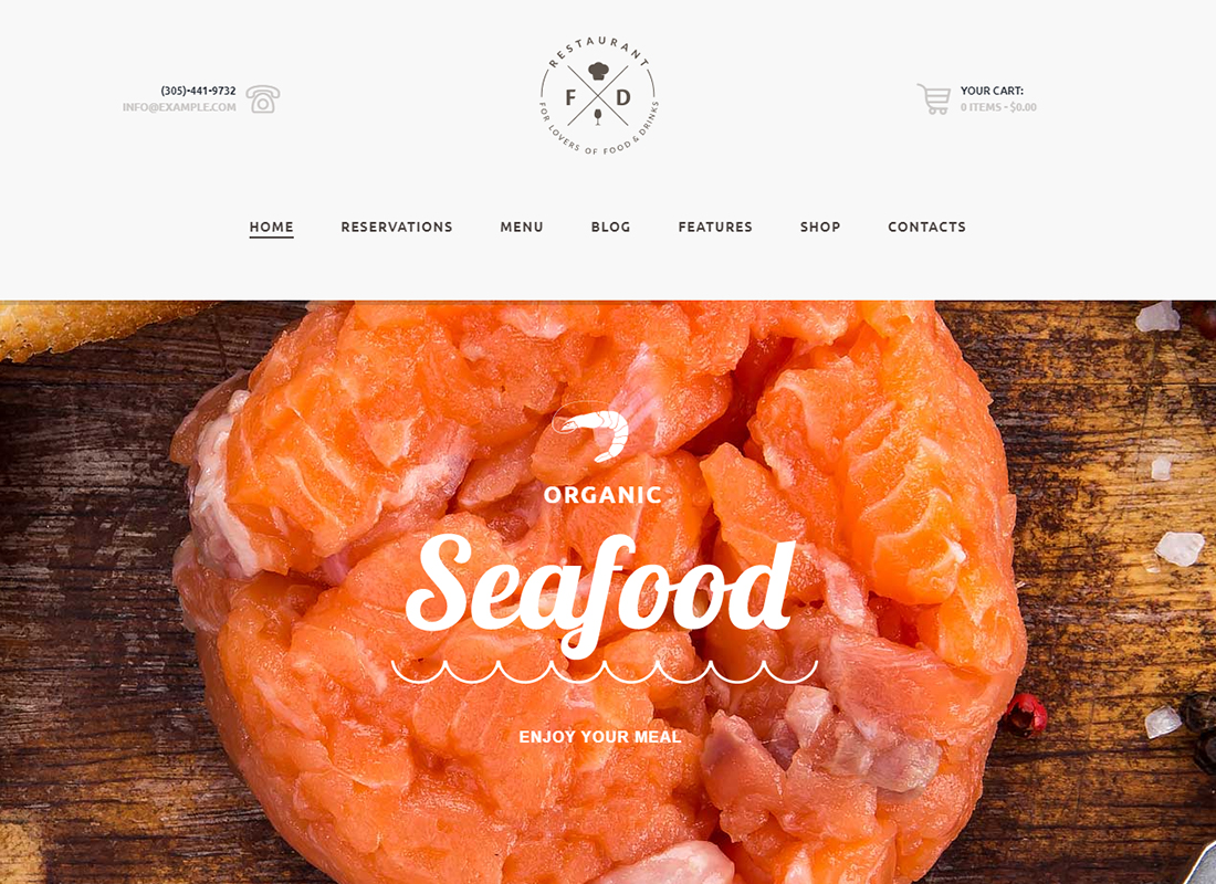 Food & Drink - An Elegant Restaurant / Cafe / Pub WordPress Theme