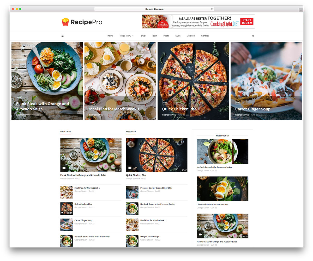 35 awesome food wordpress themes to share recipes 2018 colorlib magplus is an eloquent and creative responsive wordpress blog and magazine website theme a seamless framework for putting together sharp modern magazines forumfinder Choice Image