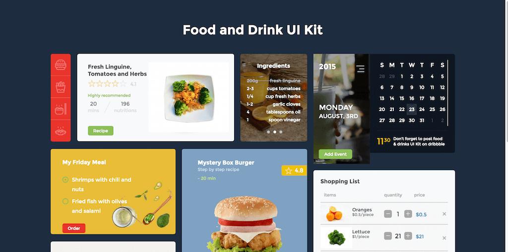 Food and Drink UI Kit