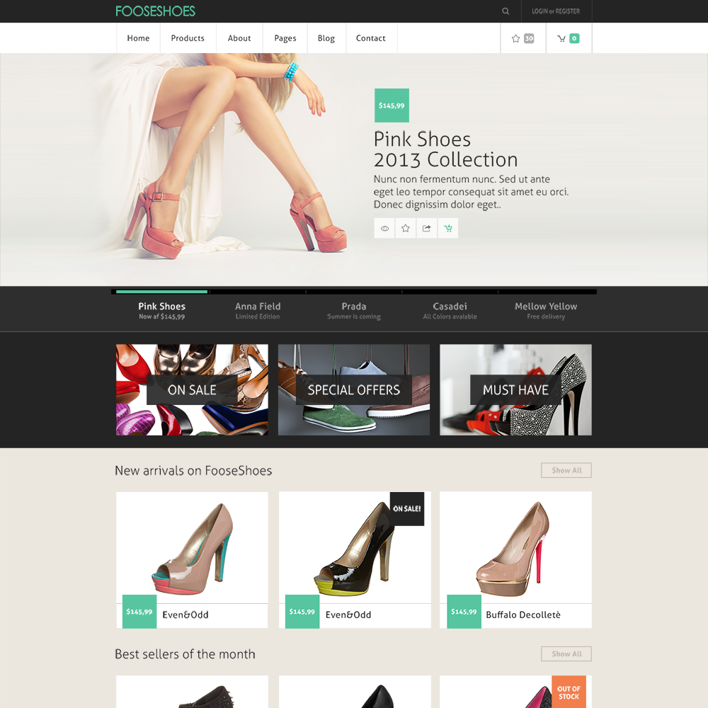 free ecommerce web template - hola.klonec.co, Shoe Boutique Powerpoint Presentation Free Template, Presentation templates