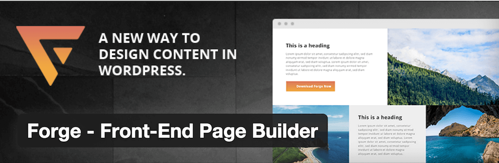 Forge Front End Page Builder — WordPress Plugins