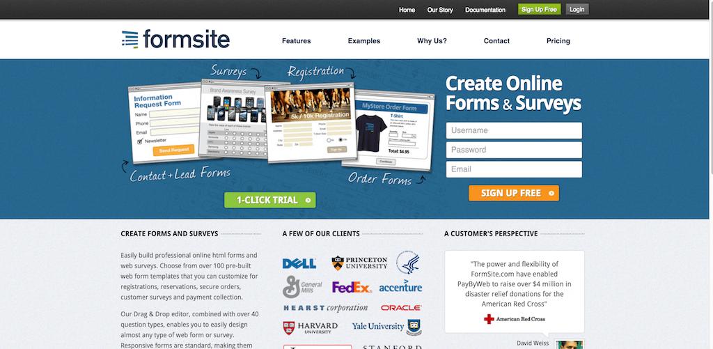 FormSite Online Form Builder. Create HTML Forms Surveys.